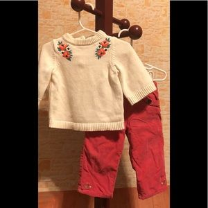 Janie and Jack Winter Blooms Set 12-18 months EUC